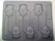 FRANKINSTEIN CHOCOLATE CANDY LOLLIPOP MOLD 3110 CLEAR PLASTIC