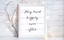lived happily ever after quote a4 glossy Print picture gift poster unframed