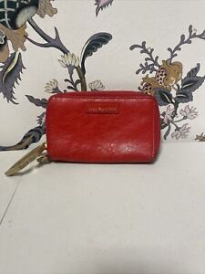 LULU GUINNESS RED LEATHER WALLET - VERY LIGHT USE (W1)