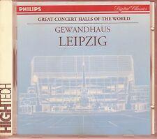 Great Concert Halls Of the World  CD GEWANDHAUS LEIPZIG