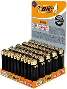 BIC Feuerzeug Reibrad Mini J25, schwarz/Gold 5 / 10 / 25 oder 50 Stück Original!