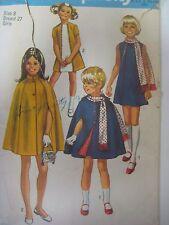 Vintage 70s Simplicity 9247 DRESS CAPE w/ FRINGE TRIM SCARF Sewing Pattern Girl