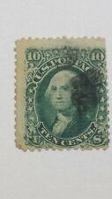 "US SCOTT 89-1867 10 CENT WASHINGTON-""E""GRILL-GREEN-USED-CATALOG VALUE $350.00"