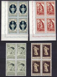 Luxembourg 1945 Bloc de 4 Caritas * / Mi 395-398 / YT 384-387 [Q076]