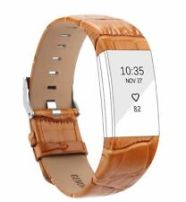 Fitbit Charge 2 Genuine Leather Band Strap Replacement Accessory Small Orange