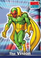 THE VISION / Marvel Legends (Topps 2001) BASE Trading Card #19