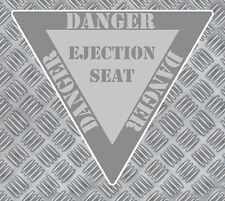 PANNEAU DANGER SIEGE EJECTABLE AVION 85mmX75mm AUTOCOLLANT STICKER (EA012).