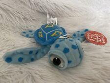New Fiesta Blue Big Eyes Mini Sea Turtle Plush Soft Toy Stuffed Animal Keychain