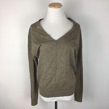 Gap Women's Longsleeve Boho Peasant Brown V-Neck Longsleeve Sweater Size XS
