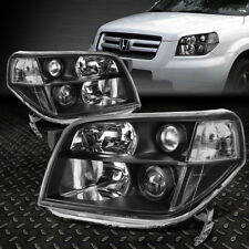 FOR 2006-2008 HONDA PILOT BLACK HOUSING CLEAR CORNER PROJECTOR HEADLIGHT/LAMP