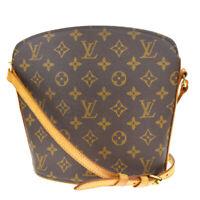 Auth Louis Vuitton Drouot Shoulder Bag Monogram Leather Brown M51290 88MD709