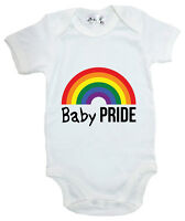 "Baby LGBT Bodysuit ""Baby Pride"" Baby grow Support LGBT Gay Pride Rainbow"