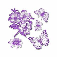Sizzix Framelits Butterflies #3 set #657773 Retail $24.99 WOW 5 DIES, 5 STAMPS!
