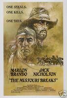 The missouri breaks Marlon Brando vintage movie poster