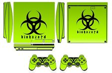 Skin Sticker Cover PS3 PlayStation 3 Slim and 2 controller skins Biohazard Q253