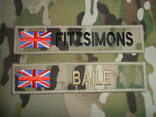 MULTICAM MTP NAME TAPE WITH UNION JACK FLAG (  HOOK BACKED )