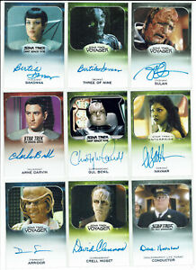"""Star Trek 50th Ann 2017 Aliens Expansion """"VERY LIMITED"""" Autograph Card Selection"""
