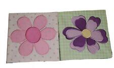 Flower Fabric Canvas Wall Art (Set of 2)