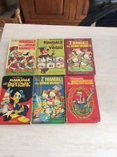 Rarissimo lotto manuali cartonati disney anni 70 da collezione