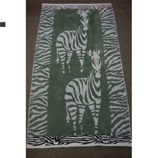 "1 PC New Egyptian Cotton Oversized Zebra Velour Jacquard Beach Towel (40"" x 70"")"