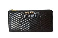 Authentic grandi Vitello Shine Miu Miu CHEVR WALLET _ Autentico RRP £ 430