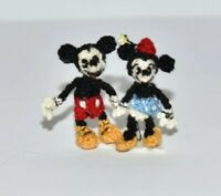 Miniature Ooak Mickey Minni Artist Disney Character Dollhouse Doll Toy Gift 1.2""