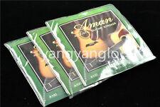3 Sets of Aman Acoustic Guitar Strings 1st-6th Steel Strings 010 Super Light