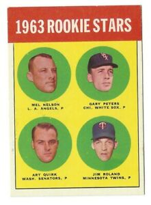 1963 Topps Rare Series 6 #522 Rookie Stars/Mel Nelson/Gary Peters/Jim Poland RC
