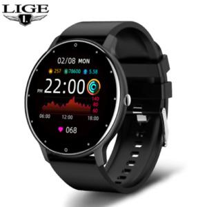 LIGE 2021 New Smart Watch Men Full Touch Screen Fitness Watch IP67 Waterproof