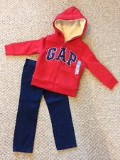 New w/Tags*Gap Brand Boy's Sherpa Lined Hoodie w/Blue Corded Khakis*Size 4 Years