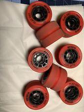 Set Of 8 Radar 88a Indoor Outdoor Roller Skate Skates Wheels (not Moxi) Flat Out