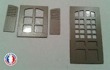 FEN02-HO-Lot de 5 portes fenêtres et 5 fenêtres avec volet, version arrondie
