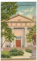1948 Postmarked Postcard Court House Winchester Virginia VA