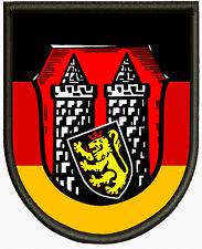 Wappen von Hof (Saale) Aufnäher, Pin, Aufbügler