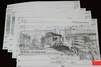 Animation Storyboard Lot 15 Drawings 2001 Roy Wilson Walt Disney Studio Artist