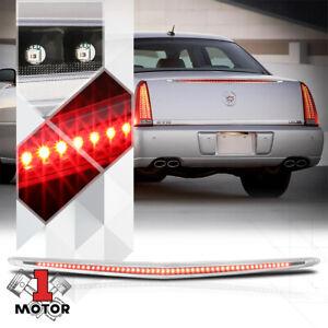Black Housing Clear Lens Rear LED Third [3rd] Brake Light for 06-11 Cadillac DTS