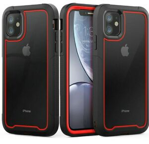 For iPhone 12 Case Shockproof Hybrid PC Hard Clear Back Tough Bumper Cover