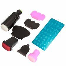 rubber stamp Kit Stamping Nail DIY Art Image Raclette Nail Scraper Tool kit G4S4