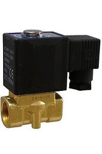 2/2-Wege Magnetventil 230V Messing stromlos geschlossen direkt gest. 10-30 bar