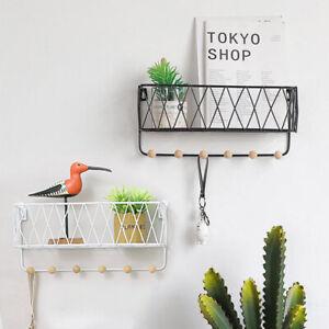 Metal And Wooden Shelf Hooks Can Hold Keys Shelf Hooks Basket Hanging Hanger