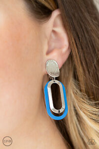 Paparazzi ~ Melrose Mystery BLUE Clip On Earrings ~ 🔥NEW RELEASE 2021🔥 ~ WOW