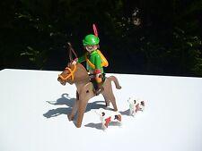 ♥♥ Ancien Playmobil Réf: 3629 Robin Des Bois à Cheval