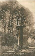 Mawgan, Cross in Churchyard  vintage pc    qq1205