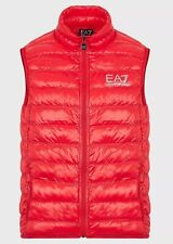 EA7 Emporio Armani Quilted Padded Waistcoat Sleeveless Red Item Code 8PNQ01PN29Z