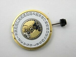 ETA 955.114 / 955.112 Quartz Watch Swiss Movement Date @ 3 - New Gold Plated