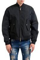 Dsquared2 Men's Black Full Zip Bomber Windbreaker Jacket US S IT 48