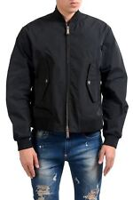 Dsquared2 Men's Black Full Zip Bomber Windbreaker Jacket US S IT 48