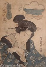Utagawa Toyokuni 1769 - 1825 Japanese Woodblock Antique Art Print 02778