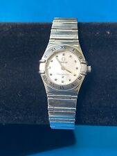 Ladies Omega Constellation *My Choice SS Watch White MOP Dial 22.5mm Quartz