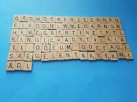 99 Scrabble Tiles Lot Used